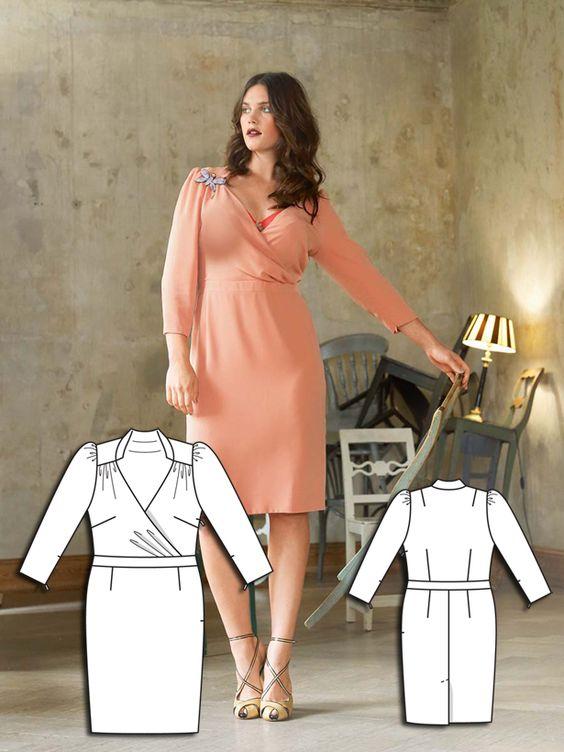 Sweetly Sherbet: 7 Plus Size Women's Sewing Patterns – Sewing Blog | BurdaStyle.com
