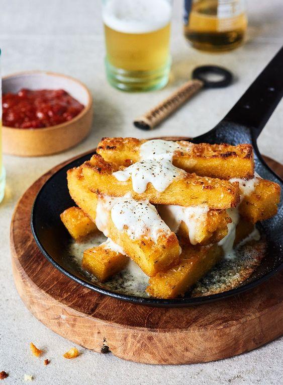 Molten Mozzarella Polenta Fries