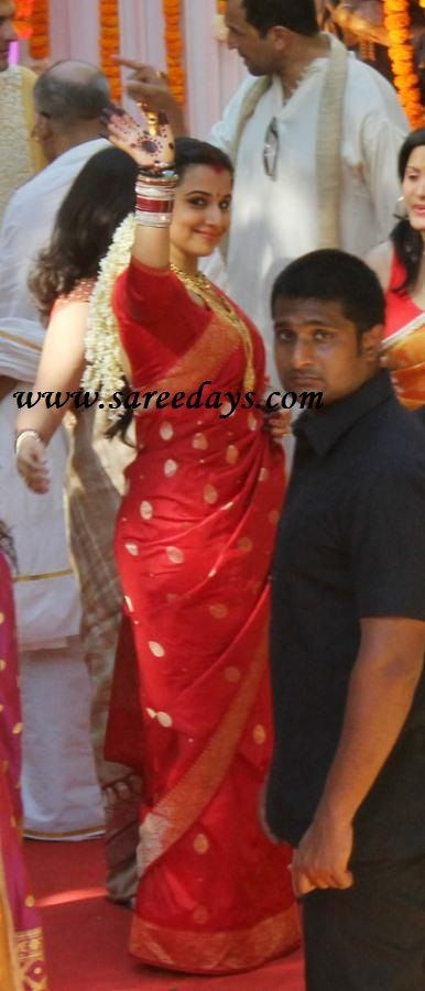 Vidya Balan on her wedding day