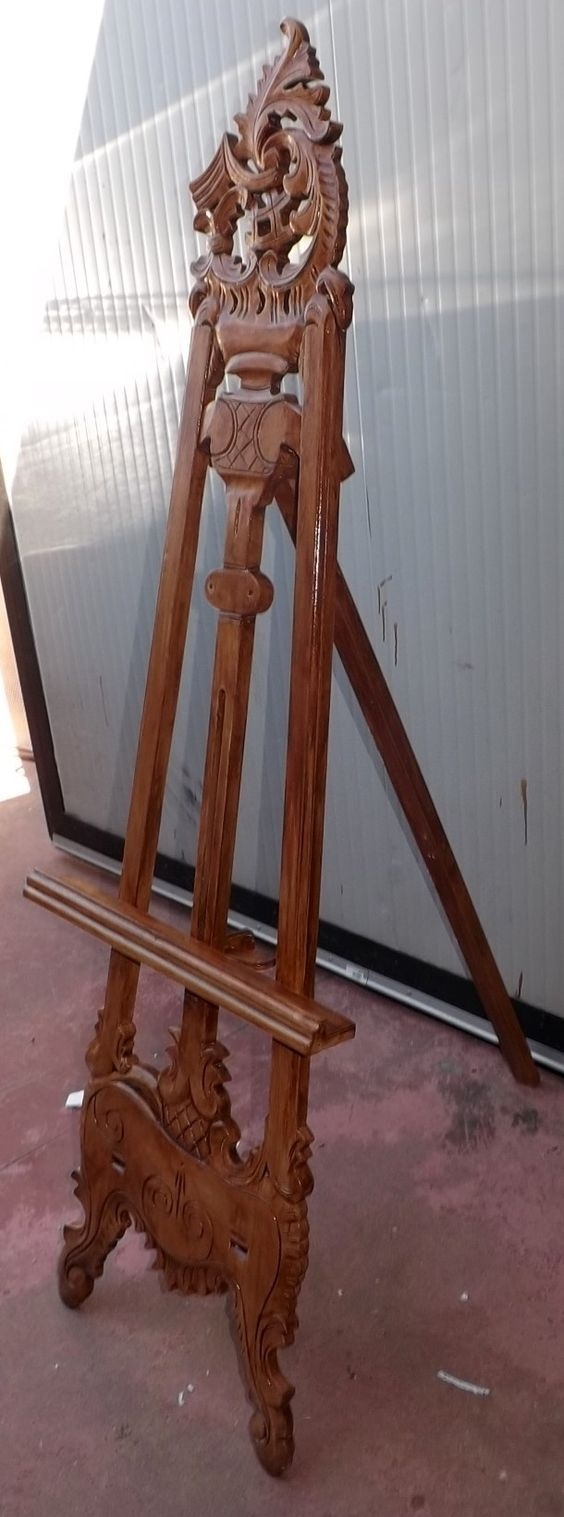Cavalletto treppiedi espositore in legno intarsiato! Per esporre i ...