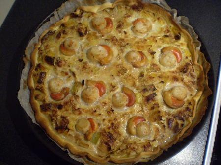 Recette tarte aux poireaux et noix de saint jacques : une recette simple à préparer et rapide