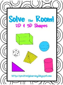 Activity to practice 2D and/or 3D shapes. We are using them for review for upcoming testing! $4.00