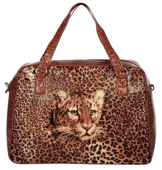 Leopard~Leatherette~HandBag~Travel & Shopping Bag~Carry On~Tote~Rockabilly~Punk #Unbranded