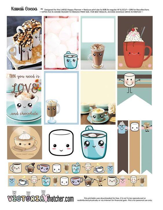 Free Kawaii Cocoa Printable | Victoria Thatcher