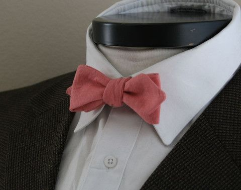 its early but thinking of Spring - Wickham House linen bowtie. awesome. handmade. at an astounding $26