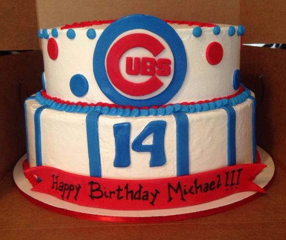 1000+ Ideas About Chicago Cubs Cake On Pinterest