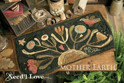 Mother Earth Hooked Rug Canvas On Monks