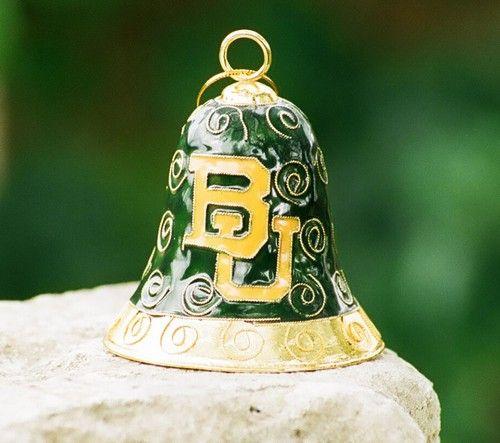 #Baylor Bell Cloisonne Ornament