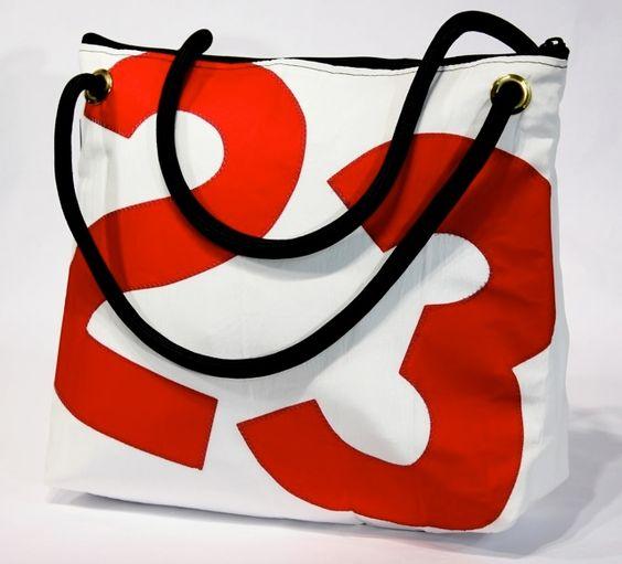 San Francisco (large free-style shoulder bag): Boat Sail, Sewing Sailing Bags, Naturalluxe, Francisco Handbag, Sailcloth Bags