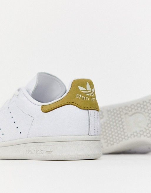 adidas Originals - Stan Smith - Baskets - Blanc et jaune ...
