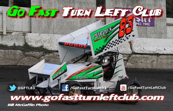Go Fast Turn Left Club promotional cards