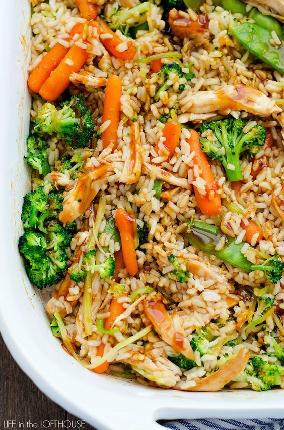 Teriyaki Chicken Casserole...will use quinoa instead of rice