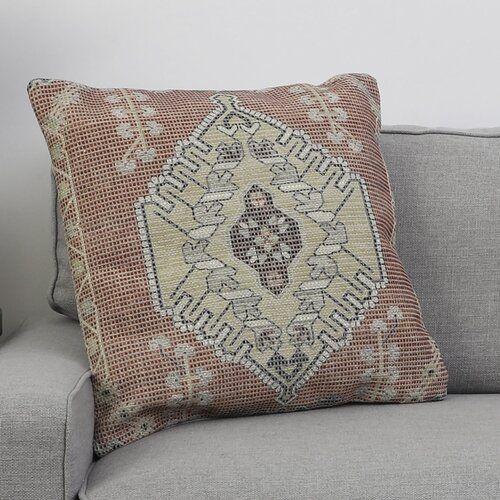 Hively Persian Inspired Flatweave Cotton Blue Orange Area Rug Reviews Allmodern Throw Pillows Hand Woven Pillows Pillows