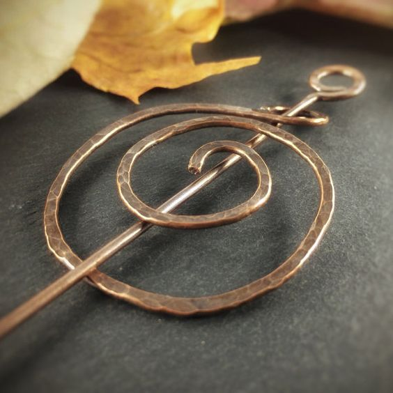 Keep war, with this Celtic Copper Shawl Pin - Scarf pin Christmas by AdornWireStudio Pin to keep or click to buy