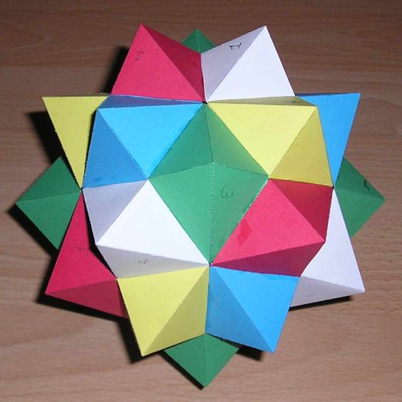 paper models of polyhedra After mastering the five platonic solids, there is a world of more complex models  to explore the polyhedron below consists of twelve regular.