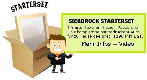 Siebdruck-Set für T-Shirts, Textilien, Papier, Pappe, Holz, Leinwand