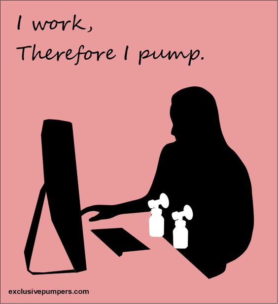 I work, therefore I pump. (For my fellow working and pumping mommas :-) )