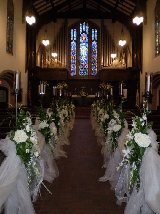 Church wedding decor weddings pinterest wedding for Church wedding decorations