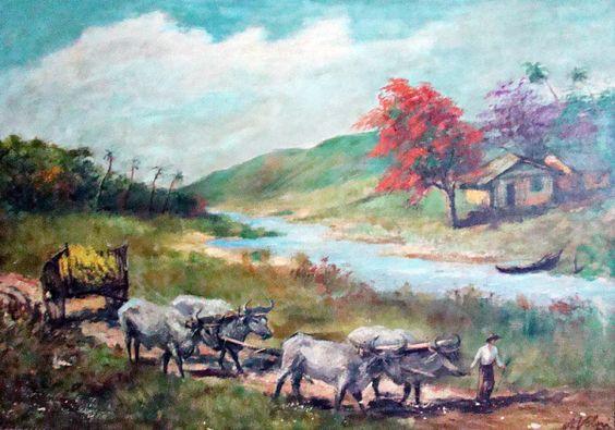Cena rural, década de 1920 Alfredo Volpi (Itália/Brasil, 1896-1988) óleo sobre tela, 50 x 71 cm