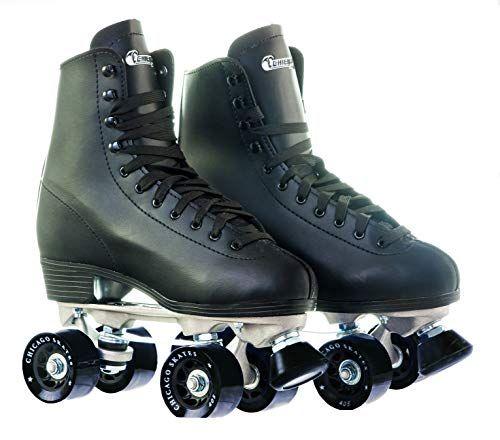 Chicago Womens Premium Leather Lined Rink Roller Skate Classic White Quad Skates