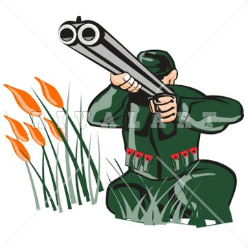 Clip Art Hunting Clip Art sports clipart image of bow hunter hunting cross arrow tree stand man shooting aiming shotgun graphic color double barrel