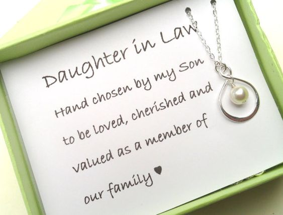 Daughter In Law Personalized Poem: Daughter In Law Necklace,Daughter In Law Gift, Daughter In