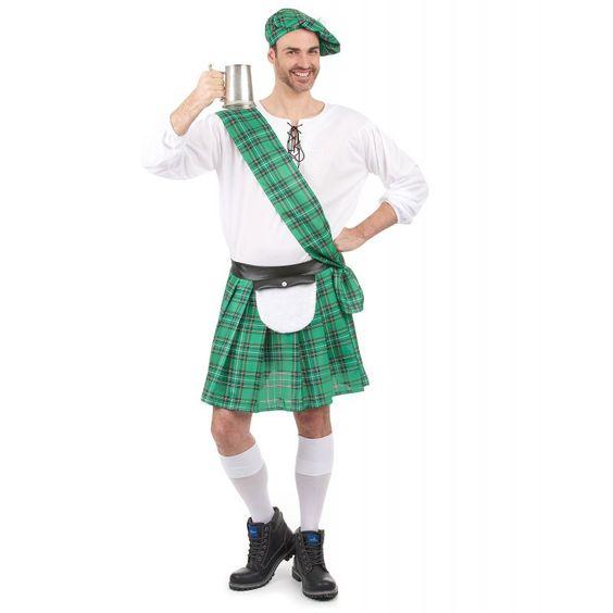 Ce déguisement pour adulte de costume écossais comprend une chemise, un kilt, un…