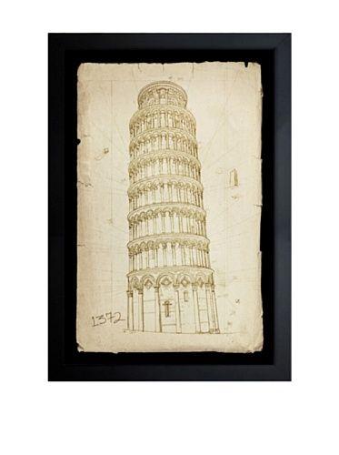 Oliver Gal Tower of Pisa, 1372 Framed Giclée