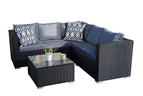 Yakoe Classical Range Rattan Garden Furniture With 5 Seater Corner Sofa Set Patio Rattan Furniture Set Corner Sofa Set Rattan Garden Furniture