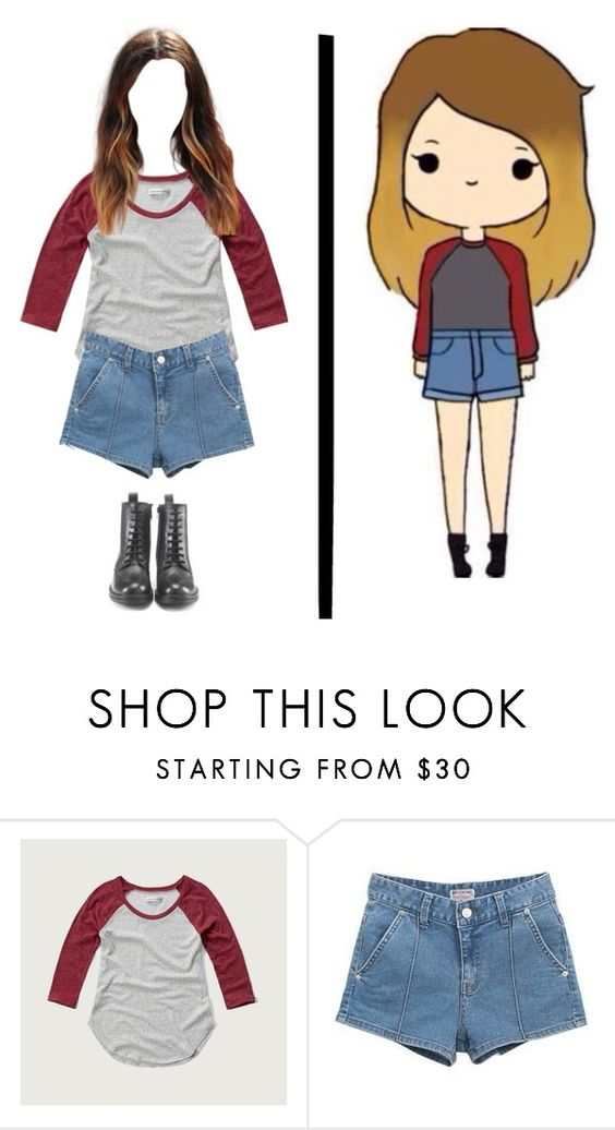 """""""Chibi IRL"""" by shinedownsiren ❤ liked on Polyvore featuring Abercrombie & Fitch, Bluemint and Hera"""