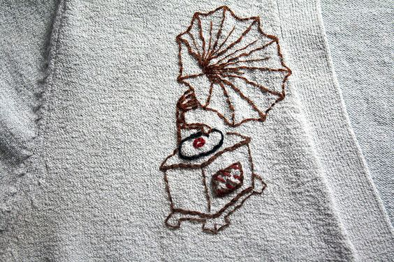 Phonograph embroidery - www.etsy.com/shop/doublespeak