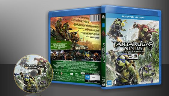 As Tartarugas Ninja - Fora Das Sombras (Blu-Ray + Blu-Ray 3D) - Capa   VITRINE - Galeria De Capas - Designer Covers Custom   Capas & Labels Customizados