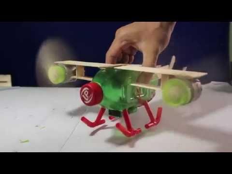 كيف تصنع لعبة طائرة بادوات منزلية