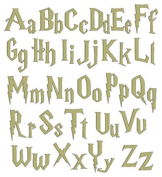 Instant Download Harry Potter Inspired Digital Embroidery Etsy Harry Potter Font Lettering Fonts Alphabet
