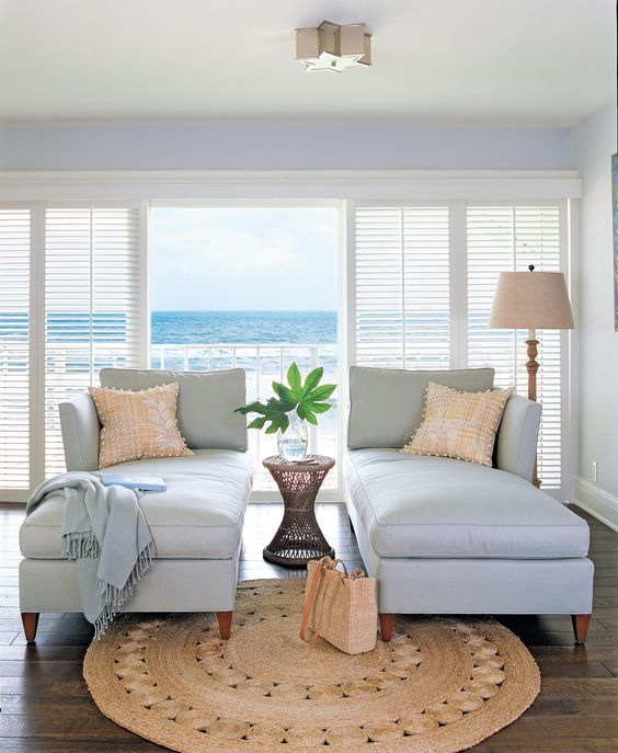 Double chaise lounges and a perfect view.