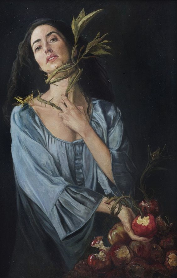 GLUTTONY Gail Potocki The Seven Deadly Sins Fine Art Print Printed on heavy archival watercolor paper with deckled edges Pencil signed by artist