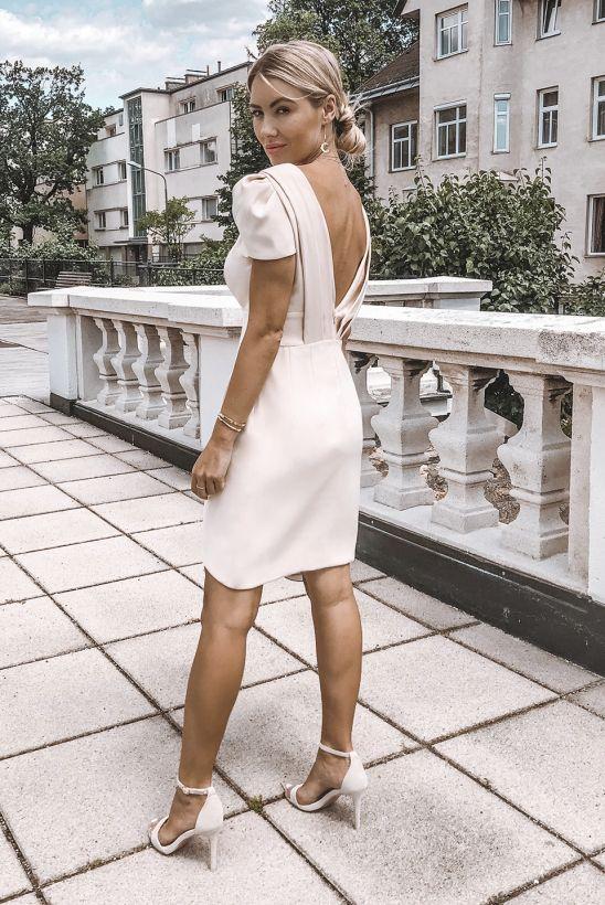 Jolie Kremowa Krotka Sukienka Wesele Chrzest Dresses Dress Codes White Dress