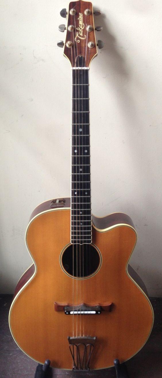 70's Takamine archtop Acoustic/Electric Guitar  --- https://www.pinterest.com/lardyfatboy/