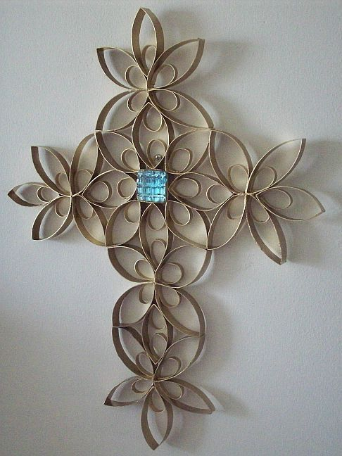TPaper Roll Wrought Iron Cross Craft Decor by dzdoodles on Etsy, $19.99: