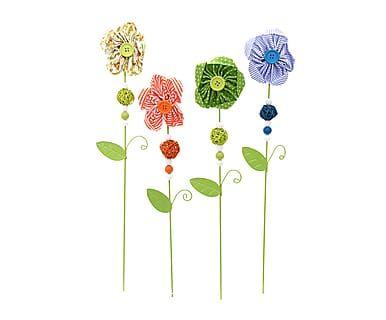 Set de 4 pinchos decorativos Flor