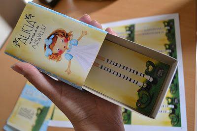"Nella Gatica + Children Illustrator: Diseño de Pack para ""Alicia"" (caja de fósforos)"