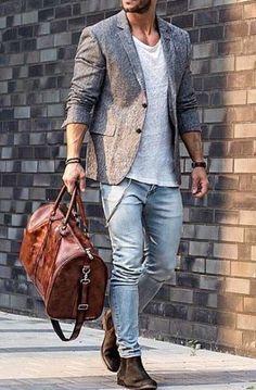 Men's Large Vintage Leather Duffle Bag