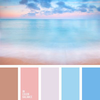 beige y rosado, blanco y rosado, celeste pastel, celeste y rosado, combinaciones…