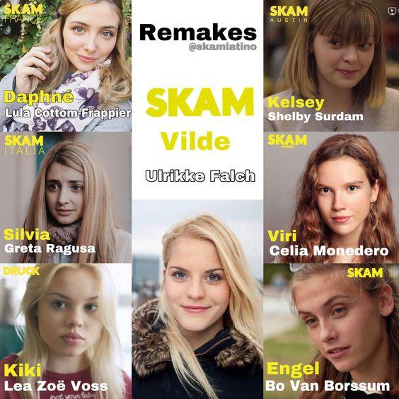 SKAM Remakes: Vilde Hellerud in SKAM, SKAM Italia, SKAM France, Druck, SKAM Austin, SKAM España and SKAM NL
