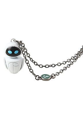 "<p>Chain necklace from Disney's <i>WALL-E</i> with an EVE character pendant design.</p><ul> <li>18"" chain; 3"" extender; 1"" pendant</li> <li>Metal</li> <li>Imported</li></ul>:"