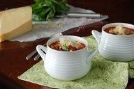 Pasta e fagioli soup.  Kyle loves this stuff!