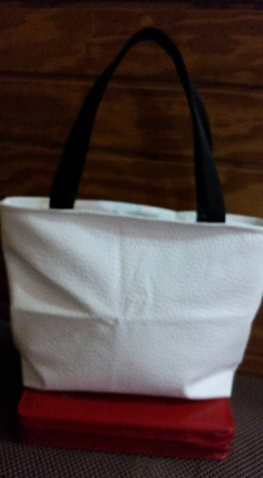 Synthetic Leather tote!!