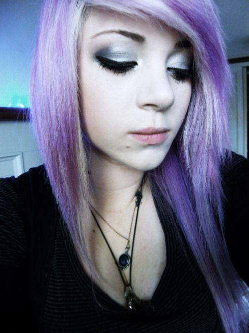 Phenomenal Pale Purple Scene Girl Hairstyle Hot Hair Color Pinterest Short Hairstyles Gunalazisus