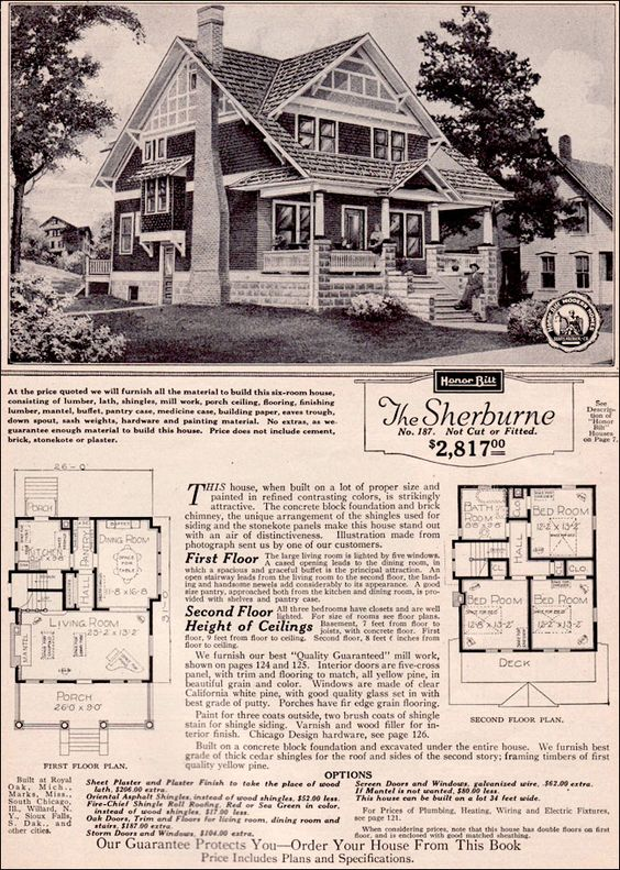 The Sherburne 1923 Sears Roebuck Modern Homes Popular For
