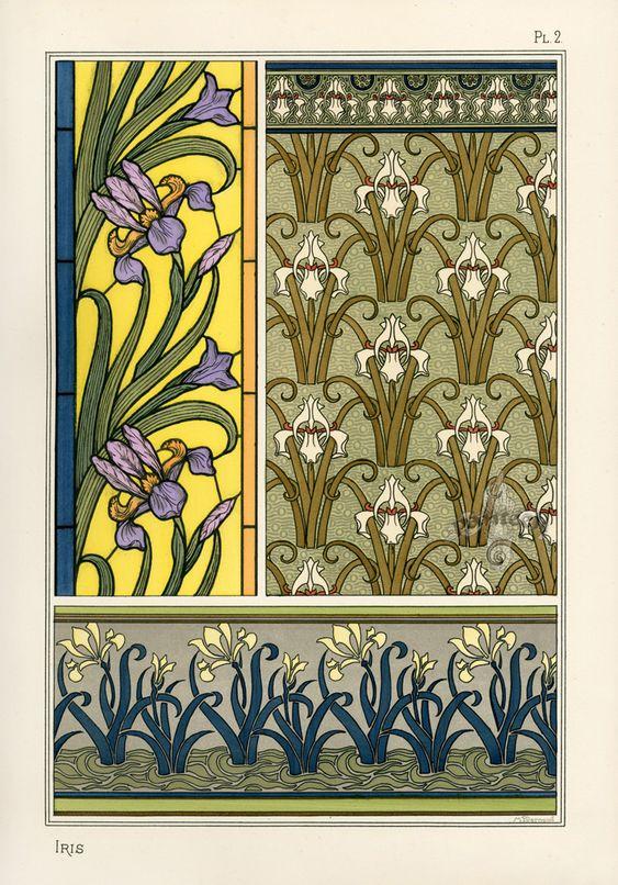 Eugene Grasset Pochoir Prints 1896:
